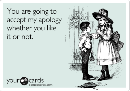 Funny Apology