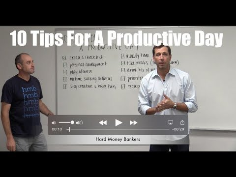 10 Tips For Having A Productive Day